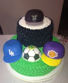Sports Cake Raiders Lakers Dodgers and Club America