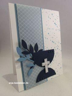 Kommunion/Konfirmation Confirmation Cards, Baptism Cards, First Communion Cards, First Holy Communion, Kids Cards, Baby Cards, Scrapbook Paper Crafts, Scrapbook Cards, Christian Cards