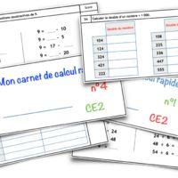 Voici des carnets de calcul mental pour chaque période. La progression est précise. Deux compétences sont travaillées par...