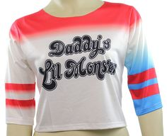 Amazon.com: Harley Quinn T-shirt Daddy's Lil Monster Shirt Costume: Clothing