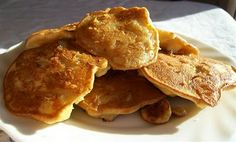 Banana Fritters by Quirky Cooking Potato Pudding, Thermomix Desserts, Thermomix Bread, Banana Fritters, Quirky Cooking, Food Substitutions, Think Food, Banana Recipes, Healthy Snacks