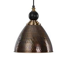 Adastra 1-Light Antique Brass Pendant Lighting Fixture by Uttermost