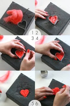 How to: Needle felt Heart Garland