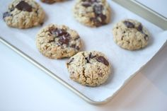 Vanilla Chcolate Oatmeal Cookies - Passion4baking
