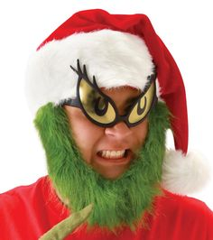 21123edc33 Grinch Eye Glasses Adult Size Grinch Mask