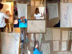 Inspiration Degas, croquis, human figures at Atelier Partage