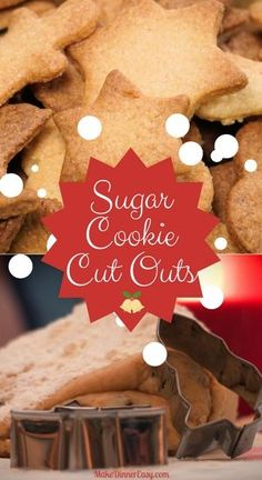 Simple but flavorful recipe for Cut Out Sugar Cookies. Perfect for making seasonal cookie shapes and large batches for cookie exchanges!