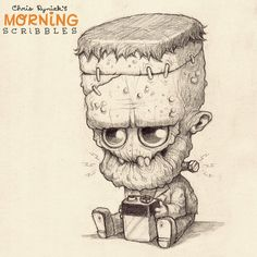 """To be """"frank"""", I'm getting """"amped"""" for Halloween! #morningscribbles #countdowntohalloween #dadjokes"""