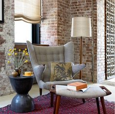 Some may find bare brick depressing, but there's a timeless quality to raw brick that endures through decorating styles; from rustic to contemporary, bare bricks walls add an element of texture and architectural detail to a plain room. http://www.home-dzine.co.za/decor/decor-brickwall.htm