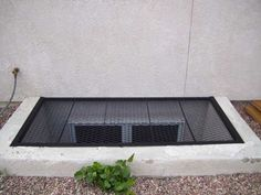 egress window well grate cover