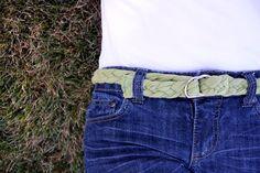 Braided shirt belt