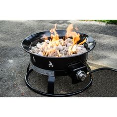 Outdoor Fire Pit Portable Propane Patio Deck Garden Backyard Heater Firepit Bowl for sale online Portable Propane Fire Pit, Outdoor Propane Fire Pit, Fire Pit Backyard, Outdoor Fire, Camping Fire Pit, Outdoor Gear, Outdoor Living, Small Gas Fire Pit, Cool Fire Pits