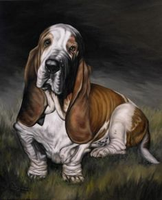 BROOD Valentine Auction ~ Jan 20 to Feb 3, 2013. This item is up for bid via the BROOD website. Find all the details at: www.brood-va.org/auction. David Dowbyhuz is a Canadian artist who specializes in portraits of dogs, and has done many basset hound portraits. He has donated a $100 gift certificate toward the cost of a custom oil painting of a dog of your choice.