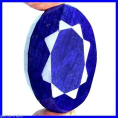 320 CT TOP NATURAL AFRICAN ROYAL BLUE OVAL FACETED RARE HUGE CERTIFIED SAPPHIRE