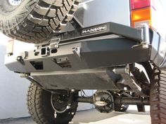 "Made In The USA Quality shows in the handcrafted construction of the Hanson Offroad Rear Bumper w/ Tire Carrier for the 84-01 Jeep Cherokee XJ. the Bumper is constructed of strong 3/16""? cold rolled s"