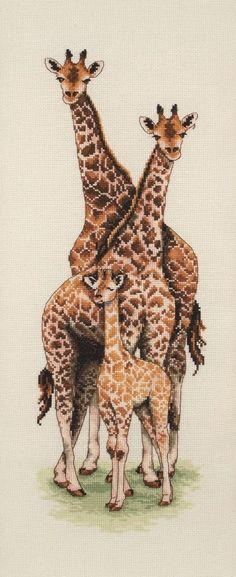 Giraffe  Family - Anchor cross stitch kit
