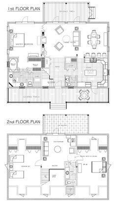 Magnificent First and Second Small House Floor Plans Architecture Ideas. #houseplan