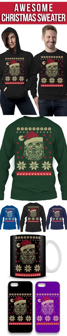 Chewbacca- Star Wars Ugly Christmas Sweater! Click The Image To Buy It Now or Tag Someone You Want To Buy This For. #starwars