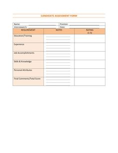 Form Recruitment Strategies Evaluation  Human Resource