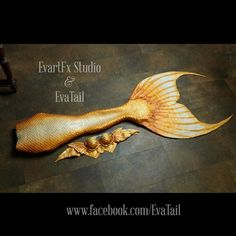 Wonderful gold tail !!! ))) #evartfxstudio #evatail #silicone #mermaid…