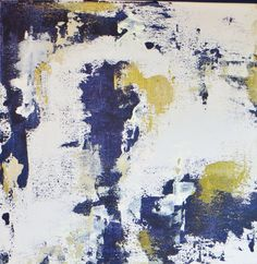 """colours... -- SALE - Navy and Gold 12"""" x 12"""" Wrapped Canvas Abstract Modern Acrylic Painting on Etsy, $29.00"""