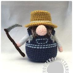 Farmer Gonk outfit free crochet patterns from Hooked On Patterns www.hookedonpatterns.com