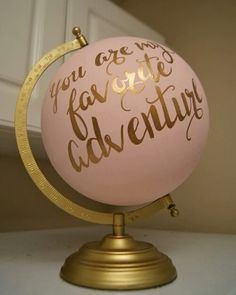 Hand Painted 12 Wedding Globe, Shabby Chic, Gold Hand Lettering Custom Made To Order is part of Girl room - Hand Painted 12 Wedding Globe, Shabby Chic, Gold Hand Lettering Custom Made To Order NurseryIdeas ShabbyChic Shabby Chic Bedrooms, Shabby Chic Homes, Shabby Chic Furniture, Shabby Chic Decor, Modern Bedroom, Shabby Chic Nurseries, Decor Vintage, Neutral Nurseries, Girl Nurseries