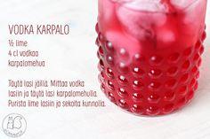 Oravanpesä   Vodka karpalo Lassi, Vodka, Strawberry, Fruit, Vegetables, Food, Vegetable Recipes, Eten, Strawberry Fruit