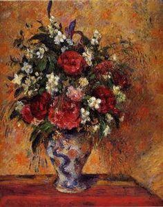 Vase of Flowers - Camille Pissarro