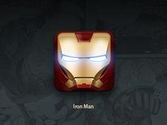 Iron Man iOS Icon Design