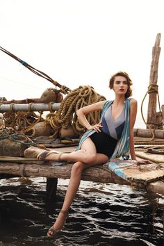 40's inspired...I just love this picture...the shipyard doc reminds me of the Darien shrimpboat doc