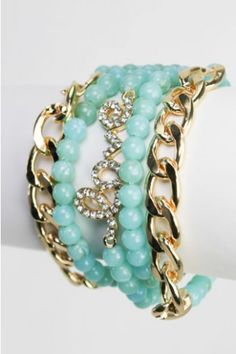 Crystal Love Bracelet-Turquoise - Jewelry - Accessories