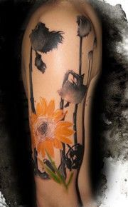 sunflower tattoo, add one more for the girls?