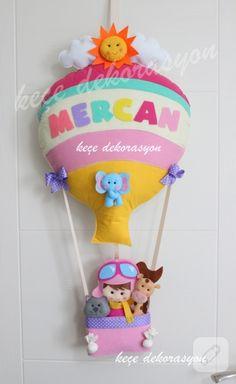 Keçe kapı süsü - uçan balon