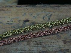 Chainmaile, Byzantiner Armband von Drahtwerk auf Etsy