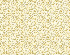 Christmas Fabric/Gold Swirls on Cream/Clothing, Quilting, Crafts/Winter HolidaySewing Material/Fat Quarter,Half Yard,1 Yard