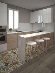 68 amazing design ideas for small kitchen and decor .- ✔ 68 sorprendentes ideas de diseño de cocina pequeña y decoración que sorpr… ✔ 68 amazing small kitchen design and decoration ideas that will surprise 65 -