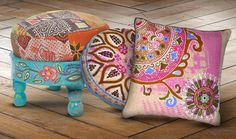 AMAZING pillows and decor from Karma Living! Beautiful and supports artists around the world!