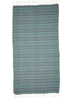 MAYDE ECO TOWEL - TURQUOISE 80% Cotton / 20% Bamboo Black stripes on coloured ground