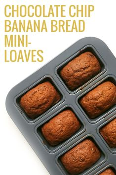 Chocolate Chip Banana Bread Mini-Loaves | Feast + West for Pretty Providence