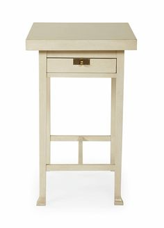 Description: Hinged top lifts to reveal hidden storage compartment. One pass-through drawer. Dimensions: H27-3/4 W17 D27 Style Number: 341-124