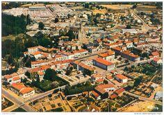 belle  cpsm  -    Cerizay  -  vue panoramique  aérienne ,l ´Usine Heuliez        AC1212
