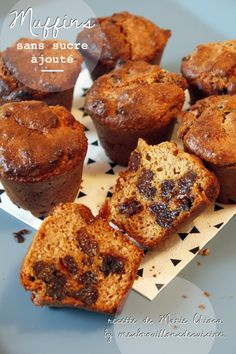 Muffins aux fruits secs, sans sucre ajouté