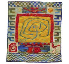 Give me Space, a tapestry weving by Kirsten Glasbrook