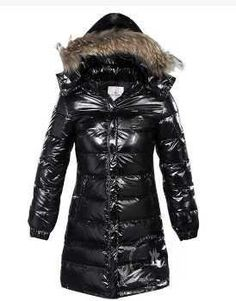 Moncler Classic Windproof Hooded Women Coat Long Sleeve Black