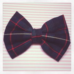 Green Tartan Hair Bow by CatchTheClock on Etsy