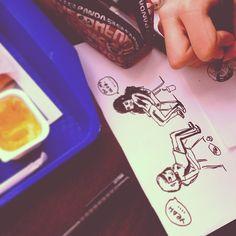 Однажды мы с Катей обожрались и решили нарисовать  #draw #sketch