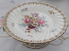 Vintage Cake Stand  Crown Staffordshire England's