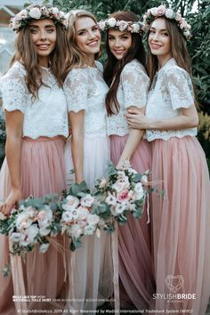Belle Wedding Lace Crop Top T-shirt Buttoned back, Bridesmai.- Belle Wedding Lace Crop Top T-shirt Buttoned back, Bridesmaid Lace Tops in Plus Sizes - Bridesmaid Skirt And Top, Different Bridesmaid Dresses, Bridesmaid Separates, Plus Size Bridesmaid, Lace Bridesmaids, Bridesmaid Outfit, Bridesmaid Tops, Two Piece Bridesmaid Dresses, Modest Bridesmaid Dresses