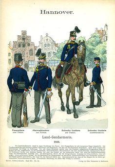 Knötel-Tafel 12/54 Hannover. Land-Gendarmerie. 1866.
